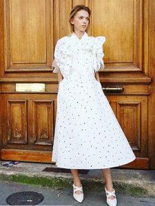 akiranaka,dot pattern dress