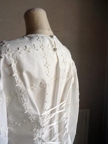 leur logette lace up blouse