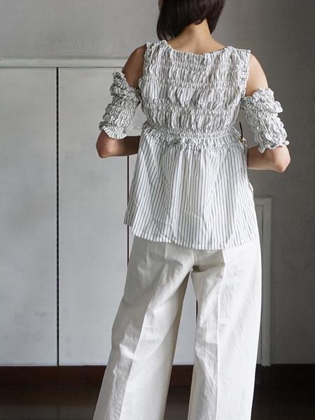 akikoaoki dobule pleats tops backs tayle