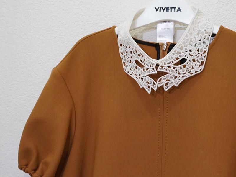 VIVETTA 手形レースの衿ワンピース