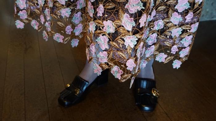 leur logette,フラワー刺繍スカート,ルールロジェット