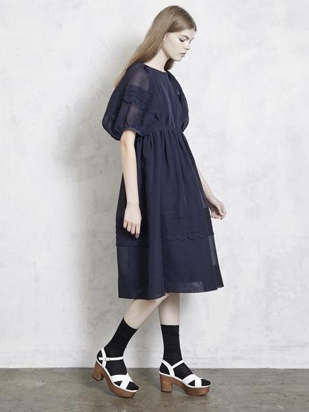 ler logette ルールロジェット ビンテージオーガンジードレス