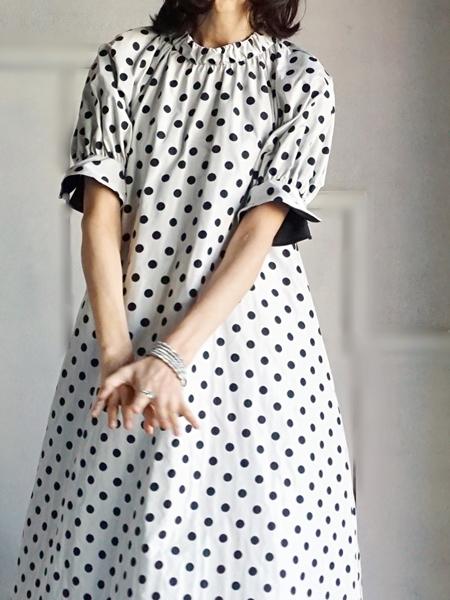 leur logette ルールロジェットのドットジャガードドレス