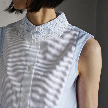 VIVETTA レース手形の衿シャツ