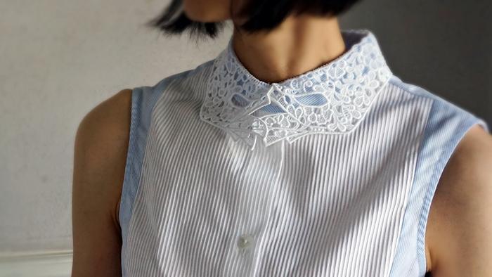 VIVETTA 手形レース衿シャツ