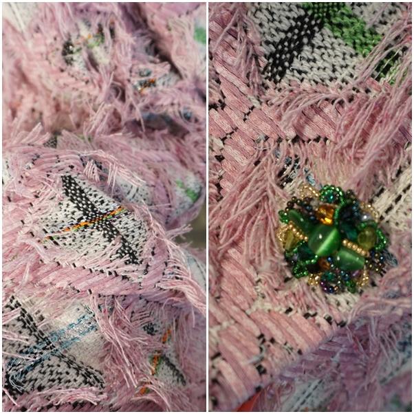 leur logette tweed fabric