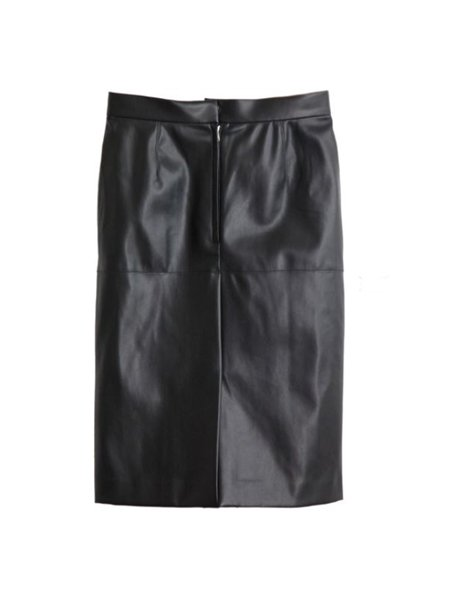akikoaoki synthetic leather skirt