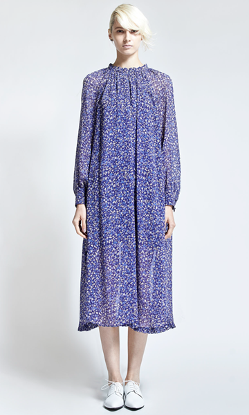 leur logette mary flower print dress