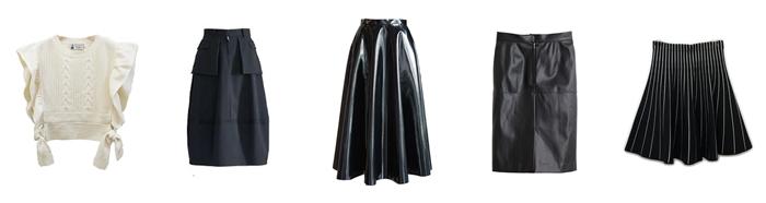 黒スカートコーディネート