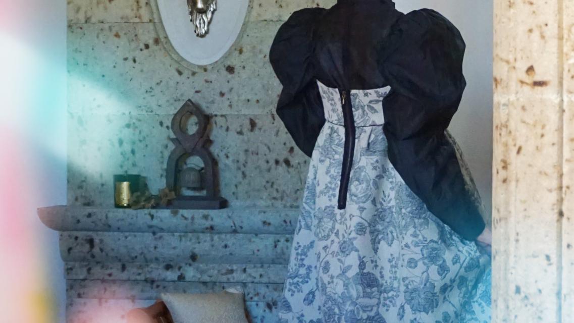 leur logette jacquard dress