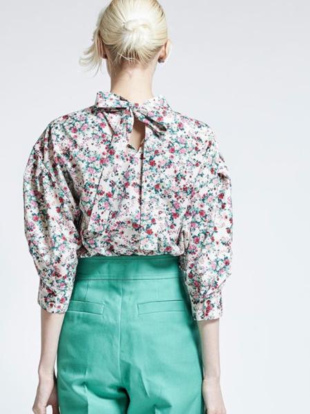 leur logette noble flower blouse