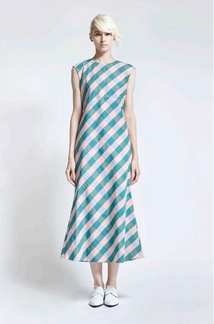 flair check dress