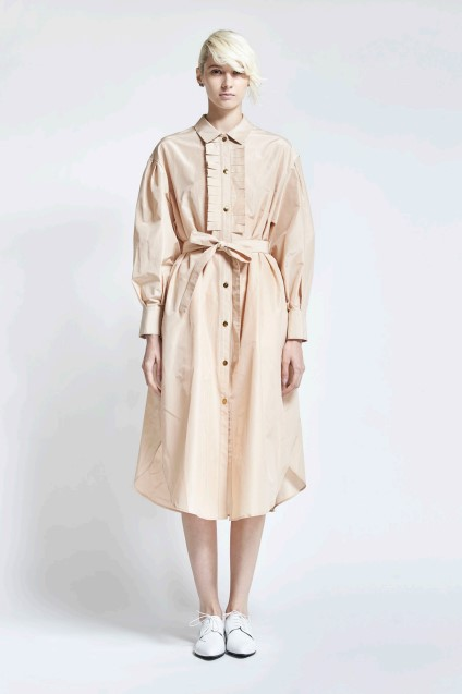airy taffeta dress