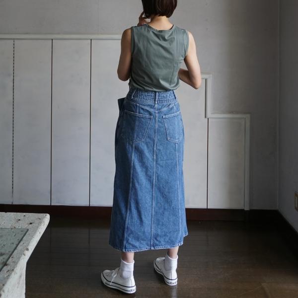 leur_logette-lace-T-akiranaka-denim-skirt-