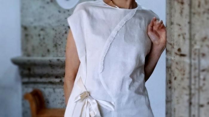 leur logette coutsure linen dress