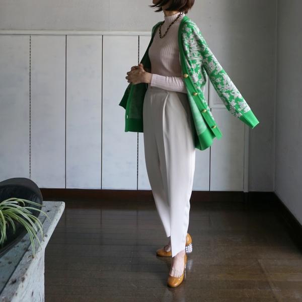 leur logette knit green